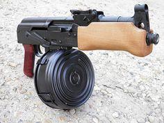 AK 47 Mini Draco Shorty 75 rd Drum