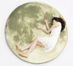 Full Moon Odyssey Floor Pillow