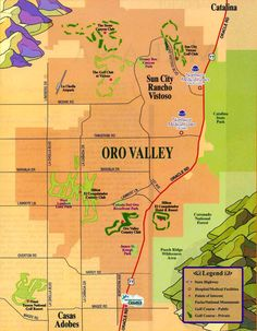 Map of Oro Valley, A