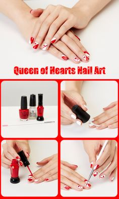 You'll be ready to pop some chocolates with this on-trend Valentine's Day mani.