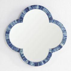 Clover Bone Mirror - Indigo