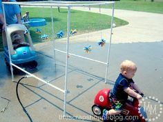 The Scrap Shoppe: {BEST} PVC Pipe Car Wash Tutorial!