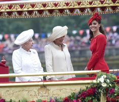 Her Majesty,  the Duchess of Cornwall and the Duchess oh Cambridge