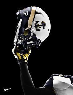 Navy Football Helmet.