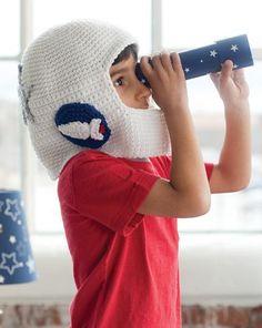 crochet space helmet - so fun!