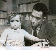 #Camus con la figlia Catherine nel 1944