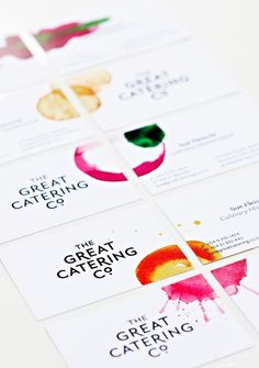 Beautiful, fruity, modern looking identity design by Gideon Keith and his team for The Great Catering Company.