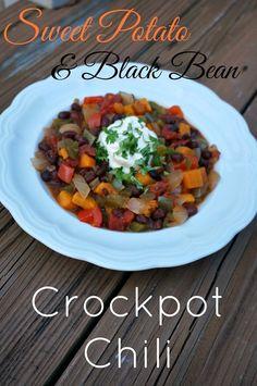 sweet potato and black bean crockpot chili