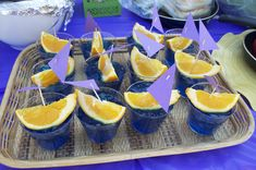 tangled party themed birthday parties, jello boat, orang, boat drinks, blue, birthday party foods, parti drink, parti food, sail boat
