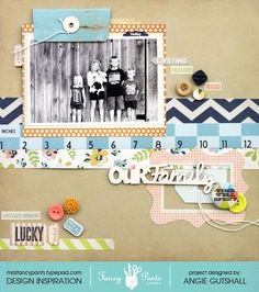 This layout used products from the Fancy Pants Designs Collecting Moments collection. Created by Angie Gutshall.