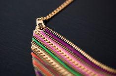 Zipper Statement Necklace