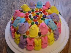 peep cake by ashcooks, via Flickr, just the picture, peeps site did not have this, but pretty simple to do!!