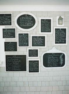 chalkboard #seating charts