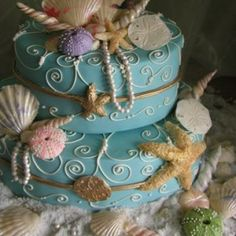 Seashell Two Stack - Elegant Cheesecakes