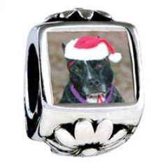 Christmas Dog European Charms  Fit pandora,trollbeads,chamilia,biagi and any customized bracelet/necklaces. #Jewelry #Fashion #Silver# handcraft #DIY #Accessory