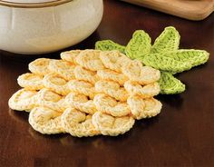 Pineapple Trivet crochet pattern featured in Learn to Crocodile Stitch: 4 Easy Techniques, taught by Debra Arch. Watch a free preview here: http://www.anniescatalog.com/onlineclasses/detail.html?code=CFV01