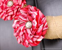 How To Make Pleated Fabric Flowers using the ruffler foot on your sewing machine