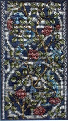 Tracery Dragons - Teresa Wentzler - TW designsworks - Fantasy Cross Stitch Chart