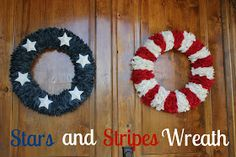 Life With Both Hands Full: Stars and Stripes Wreath Tutorial