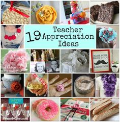 19 Teacher Appreciation Ideas from MomAdvice.com.