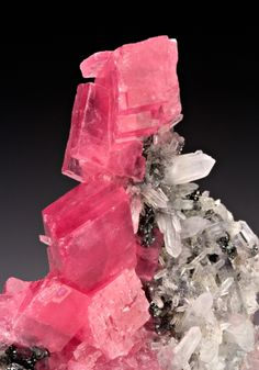 Rhodochrosite with Quartz from Colorado