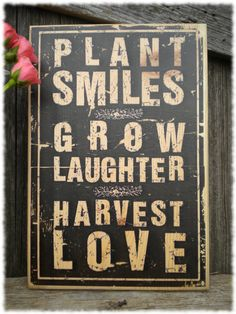Plant Smiles Grow Laughter Harvest Love 925x135 by RustyTheHermit, $18.95