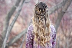 Lace Braid Half Up |