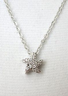 Star Cubic Zirconia Starfish necklace gifts for her