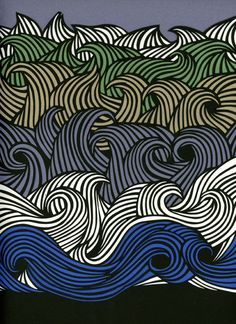 Sea - Petra Borner a lovely way to do the lines of waves