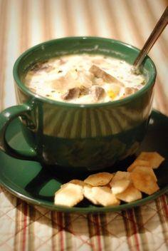 Weight Watchers Creamy Chicken and Mushroom Soup
