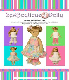 FREE Copy of Patterns for Stripwork Sundress, Ruffled Top, Petticoat, Ruffled Pants and Capris Picasa Web, Dolls Pattern, Dolls Twirling, Dolls Clothing, Elesis Lena, Twirling Skirts, Ag Dolls, Web Album, Sewing Boutiques