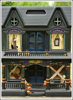 Make a Haunted House From An Old Doll House