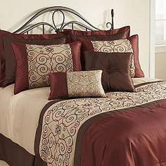 The Great Find -Firenzia 8-Piece Comforter Set bedding, comfort set, firenzia 8piec, comforter sets, master bedroom, bed skirts, the great, 8piec comfort, comforters