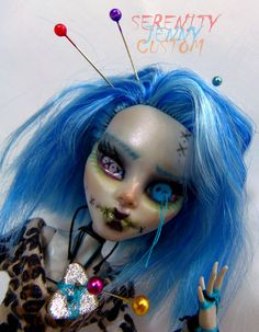 Monster High Ghoulia Yelps Custom Ebony Voodoo Doll Clothes Outfit Repaint OOAK | eBay