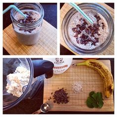 If you're a fan of Peppermint Patties, you'll love this mint chocolate blizzard protein smoothie.