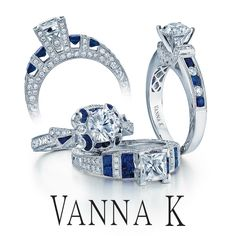 Jewelry that makes you feel like Royalty.  #VannaK  #unique #jewelry #diamonds #engagement #weddings #vintage