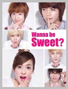 Dara (2NE1) w Shinee for Etude House's Kiss Note pictorial (Korean cosmetic brand)