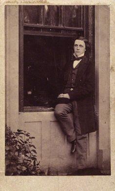 Lewis Carroll  By Unknown photographer  Albumen carte-de-visite, circa 1856-1860