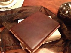 Handmade Brown Leather Ipad Case/Sleeve