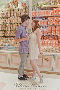 Take pictures in the candy store/ice ream shop!