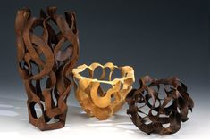 Dave Bowers wood turnings...lovely.