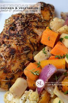 Herb Roasted Chicken and Vegetables | paleo & gluten free #recipe #reynoldskitchens @reynoldswrap #clevergirls #paleo #gf #dinner