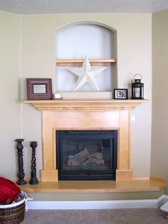 BEFORE:  Fireplace niche