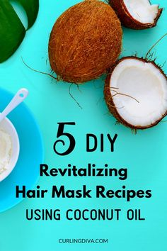 Got dull & dry hair? Whip up a quick, nourishing coconut oil hair mask in the comfort of your own home. Check out these 5 simple DIY coconut oil mask recipes and restore your hair's natural glow. #haircare #coconutoil #healthyhair