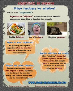 """Adjetivos in Spanish - The rules to use Spanish adjectives. We use adjectives in Spanish all the time to describe people, objects, situations and many other things. However, the way we use Spanish adjectives is slightly different to the way we do it in English. Learn the rules to use """"adjetivos"""" with a complete Spanish lesson. http://www.spanishlearninglab.com/spanish-adjectives/"""