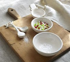 So Cute!!! Snowman Prep Bowls with Spoons