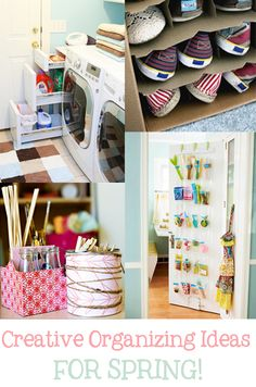 I searched far and wide across the web for the Best of the Best ideas I could find for getting a little more organized this spring!