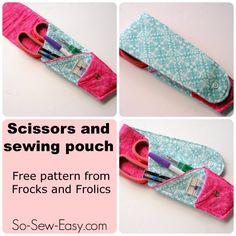 Sew a Scissors Pouch pattern - So Sew Easy