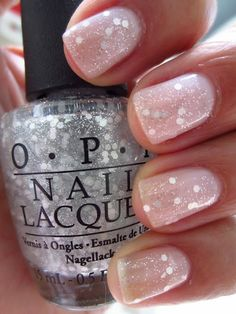 OPI Pirouette My Whistle over OPI Care To Dance    Holiday nails!!!
