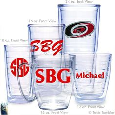 Carolina Hurricanes Personalized Tervis Tumblers